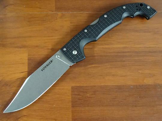 Cold Steel XL Voyager Clip Point AUS-10A Stonewash Plain Blade