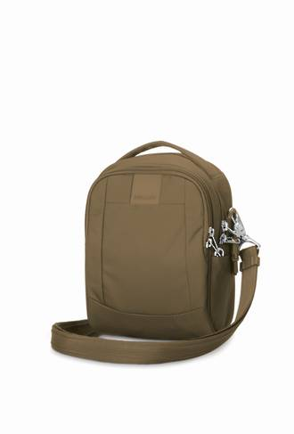 Pacsafe Metrosafe LS100 anti-theft cross body bag - Sandstone
