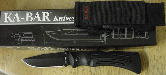 Ka-bar Mule Tactical Lockback Black Knife