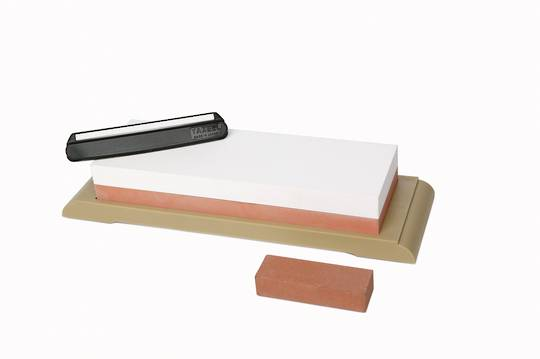 Yaxell 240/1000 Water Stone (whetstone) With Angle Keeper and Base