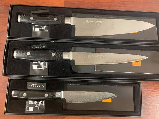 RAN PLUS Japanese Damascus 3PCS Knife Set - 69 Layers VG-10