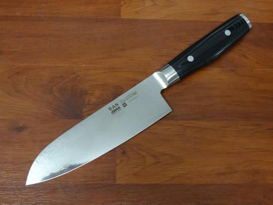 RAN PLUS Japanese  Damascus Santoku Knife 165mm