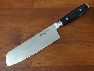 RAN PLUS Japanese  Damascus Nakiri Knife 180mm