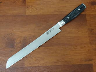 RAN PLUS Japanese  Damascus Bread Knife 230mm