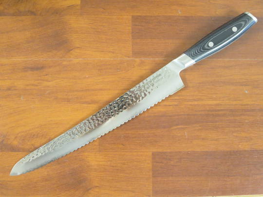 Tsuchimon Damascus VG-10 Bread Knife 270mm - 3 Layers