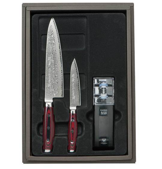 Super GOU Japanese Damascus Chefs Knife 3PC Gift Set
