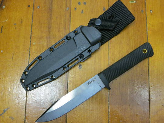 Cold Steel SRK Survival Rescue Knife, CPM-3V Satin Blade, Kray-Ex Handle, Secure-Ex Sheath