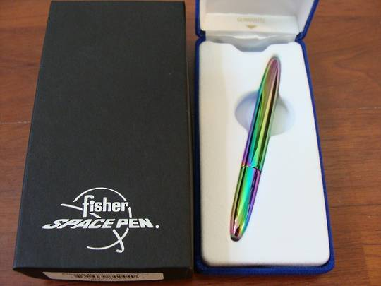 Fisher Space Rainbow Titanium Nitride Bullet Pen