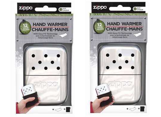 2 X ZIPPO handy Deluxe Hand Warmer - Chrome