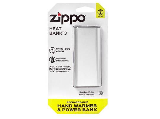 ZIPPO Silver HeatBank™ 3 Rechargeable Hand Warmer