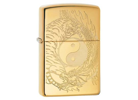 Zippo Tiger and Dragon Yin and Yang Lighter