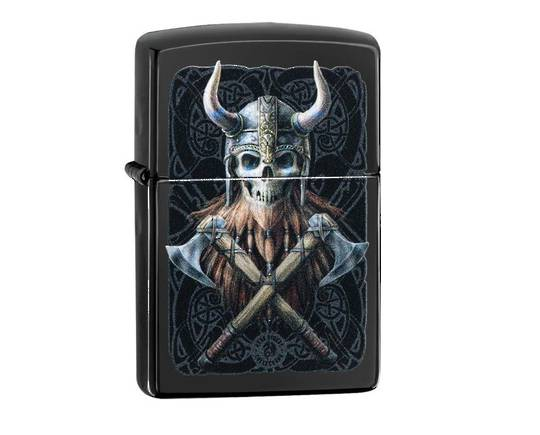 Zippo Anne Stokes Skull with Axes