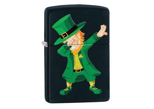 Zippo Dabbing Leprechaun Design Lighter