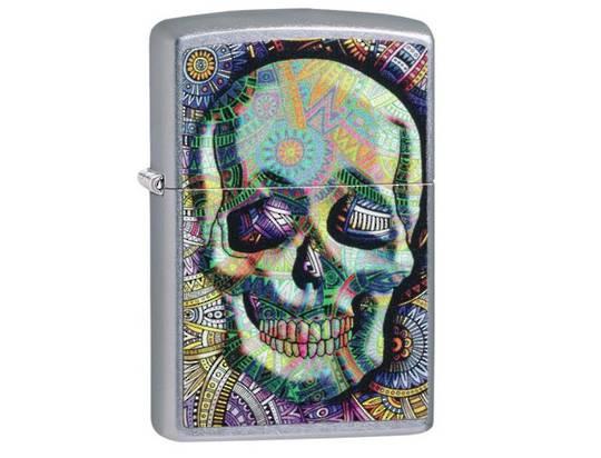 Zippo Geometric Skull Design Lighter