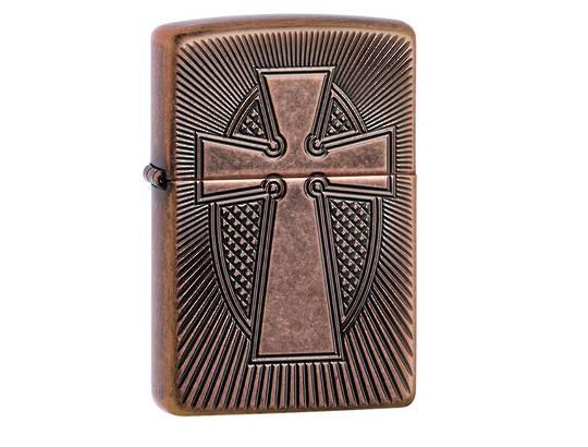 Zippo Armor® Deep Carve Cross Design