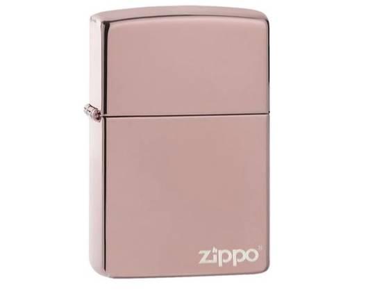 Zippo Classic High Polish Rose Gold Zippo Logo