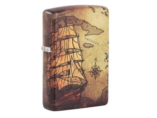 Zippo Pirate Ship Design Lighter