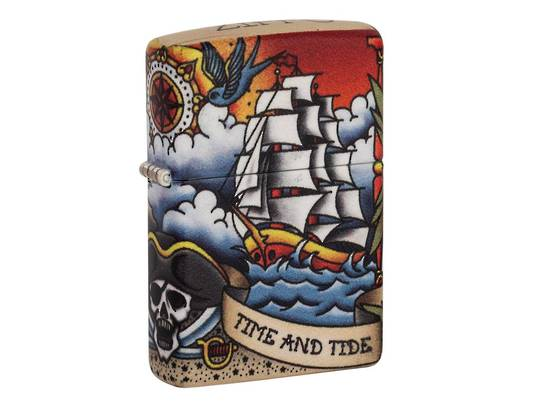 Zippo Nautical Tattoo Design Lighter