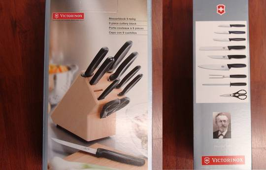 Victorinox Cutlery Block Set 9 Pc Block Set