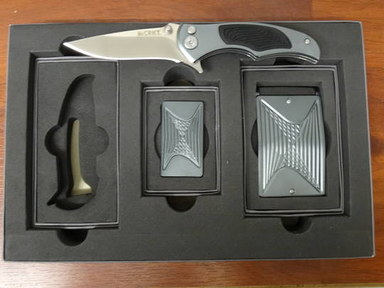 CRKT Tighe Coon Gray Aluminum Folding Knife Box set - 5270SET