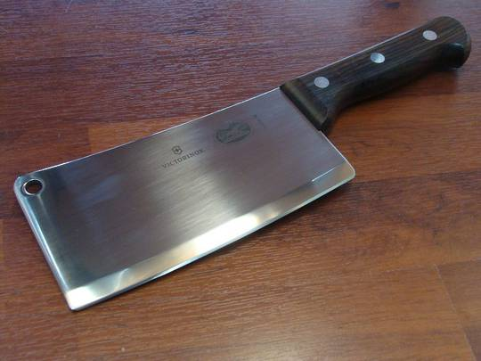 Victorinox Kitchen Cleaver 18cm Rosewood