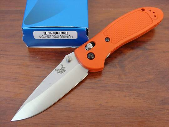 Benchmade 551S30VO Griptilian S30V Drop Point Folding Knife