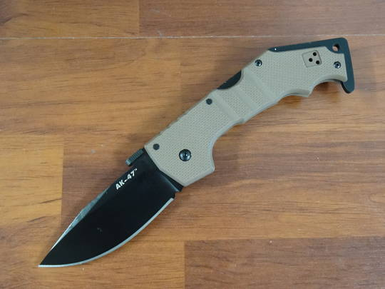 Cold Steel AK-47 Folding Knife S35VN Black DLC Blade, Dark Earth G10 Handles