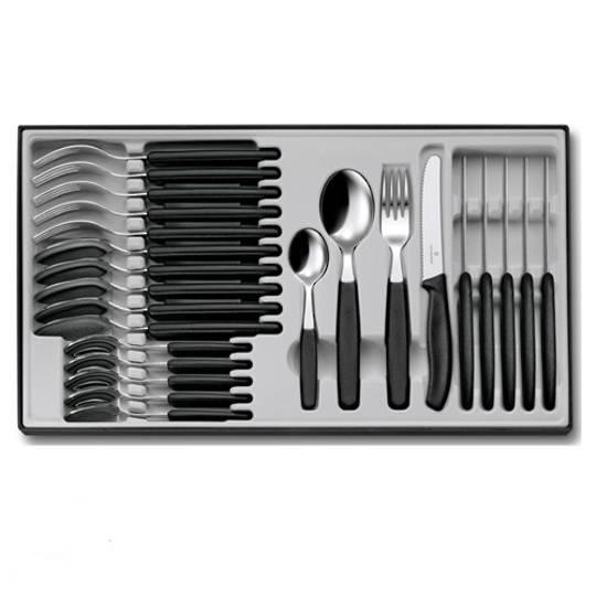 Victorinox Swiss Black Handle Cutlery Set