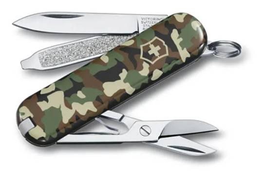 Victorinox Classic SD Swiss Army Knife Camo w/ Pouch