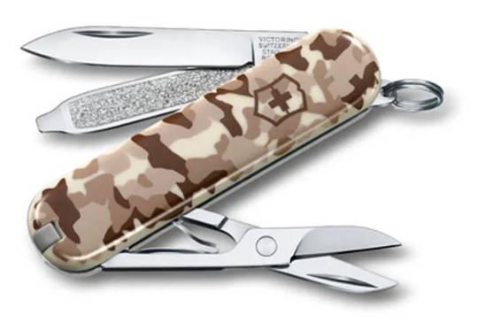 Victorinox Classic SD Swiss Army Knife Desert Camo w/ Pouch