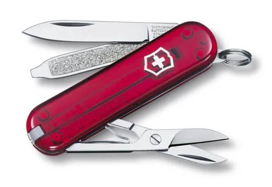 Victorinox Classic SD Swiss Army Knife Tran Red