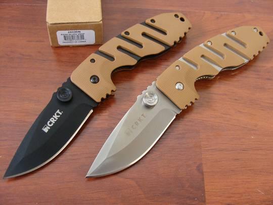 CRKT Ryan Model 7 Linerlock Folding Knife satin blade