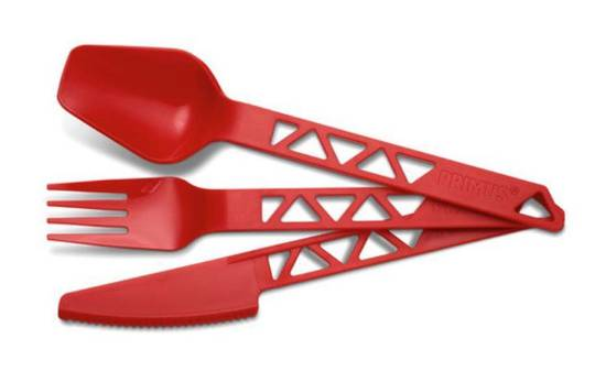 Primus Lightweight Trail Cutlery Set (3 piece kit) - Red