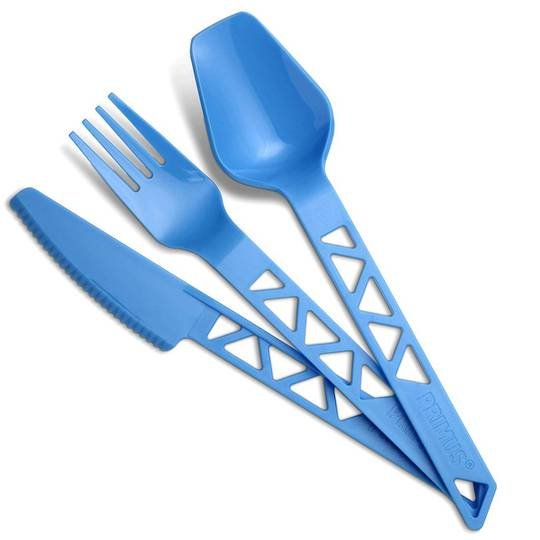 Primus Lightweight Trail Cutlery Set (3 piece kit) - Blue