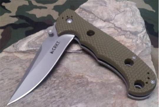 CRKT Hammond Cruiser Clip Point Folding Knife - OD Green