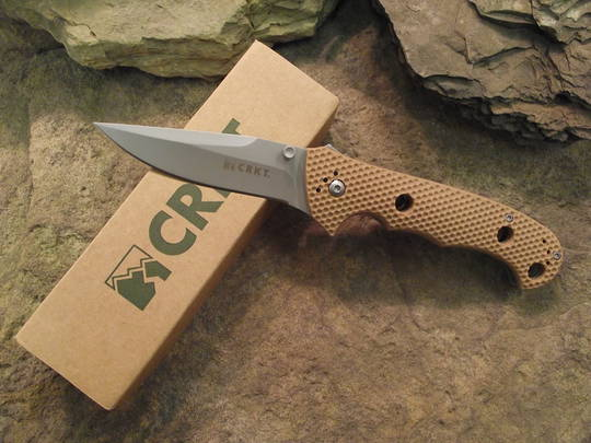 CRKT Hammond Cruiser Clip Point Folding Knife Tan Handle