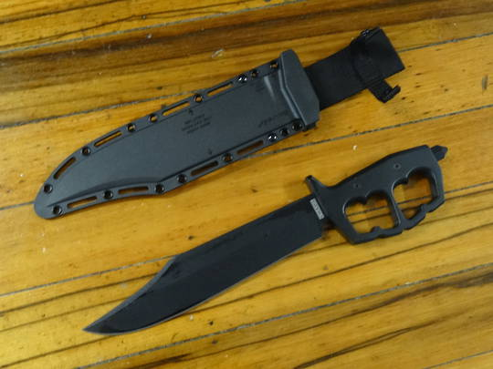 Cold Steel Chaos Bowie Fixed Blade Knife SK-5 High Carbon, Aluminum Handles