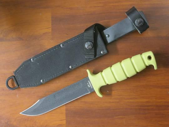 Ontario SP1 Marine Combat 8300 Fixed Knife w/sheath Tan Handle