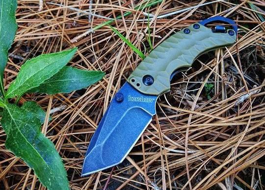 Kershaw SHUFFLE II, OD Green Black Wash Folding knife