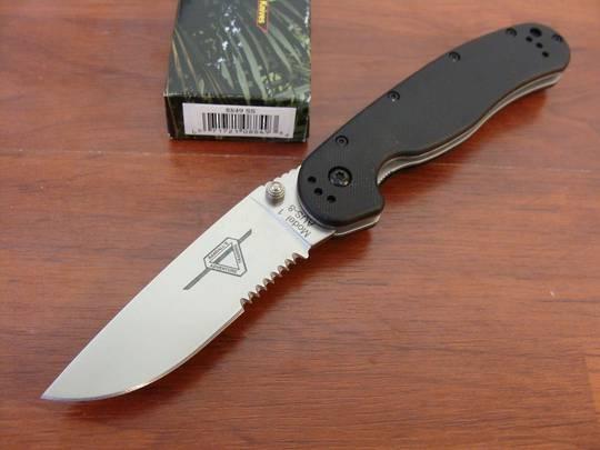 Ontario RAT Satin Combo Folding Knife