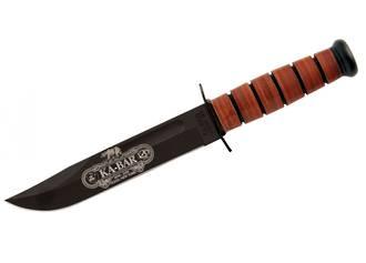 KA-BAR Commemorative Fighting Knife 120th Anniversary USMC Leather Handles