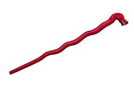 Cold Steel Lucky Dragon Walking Stick Red