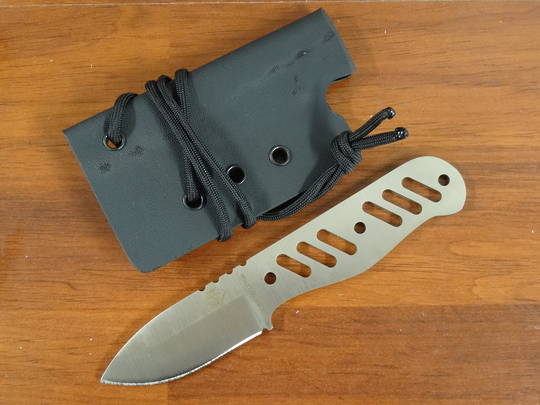 Ontario Ranger Silver Skeleton Neck Knife - 9462
