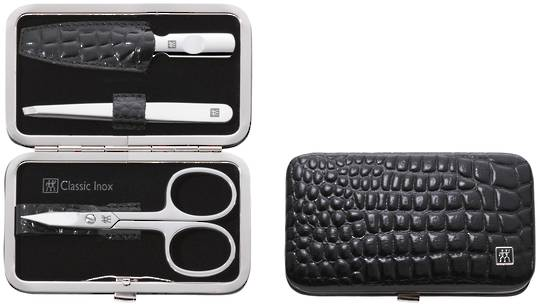 Zwilling J.A Henckels Classic Inox Snap Fastener Case 3 pc Manicure Set