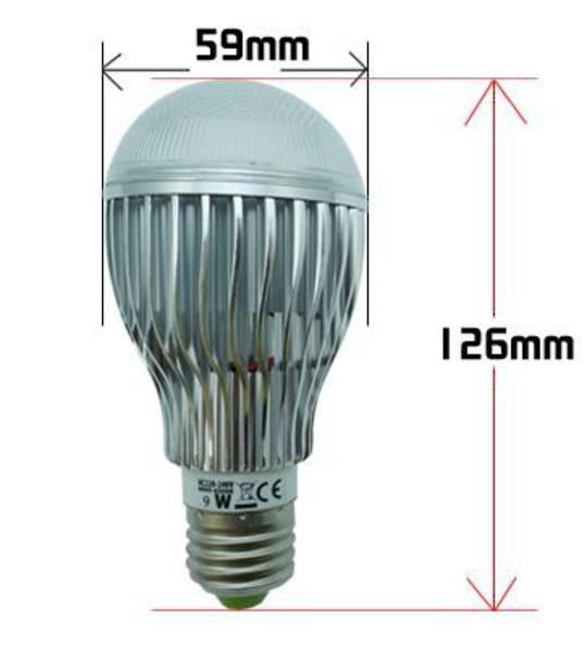 LED Bulb 9W 6000-6500K B22/E27