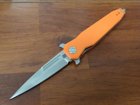 Artisan Cutlery Hornet Flipper Knife  D2 Blade, Orange G10 Handles - 1810P-POEF