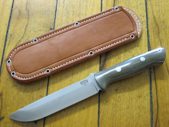 Bark River Bravo 1.5 Green Canvas Fixed Knife