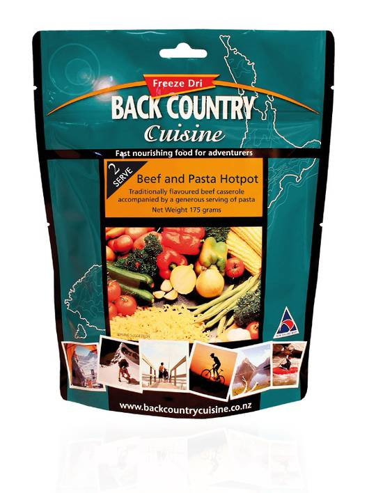 Back Country Cuisine Beef and Pasta Hotpot 2 Serve