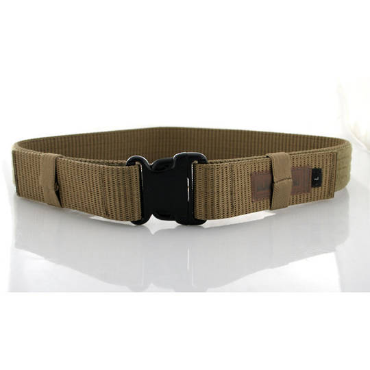 BlackHawk Enhanced Military Web Belt, Coyote Tan, Large, Up to 43 inch