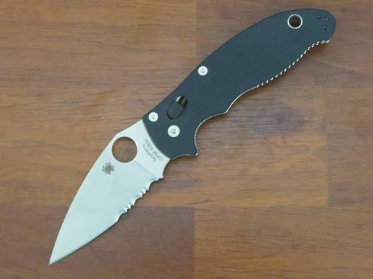 Spyderco Manix 2 Plain Edge Folding Knife S30V Combo Edge